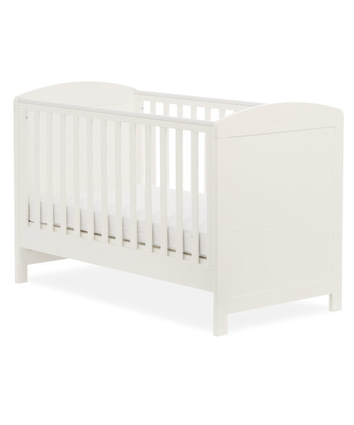 Mothercare Padstow Cot Bed - Porcelain White
