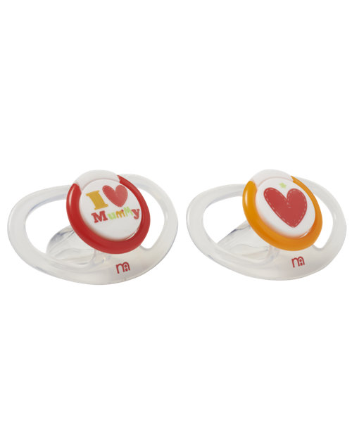 Mothercare I Love Mummy Airflow Soothers - 0+ months