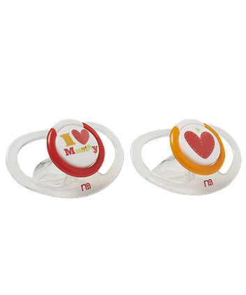 Mothercare I Love Mummy Airflow Soothers - 6+ months