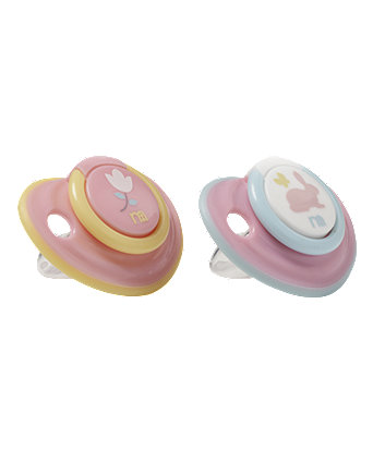 Mothercare Bunny and Flower Airflow Soothers - 3 months+