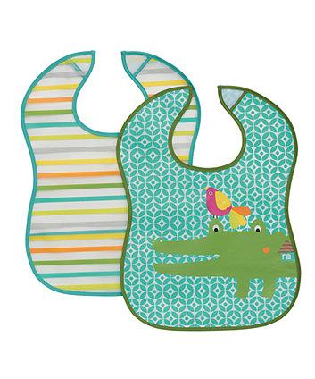 Mothercare Crocodile Crumbcatcher Bibs - 2 Pack