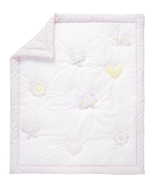 Mothercare Buttercup Bunny Cot/Cot Bed Quilt
