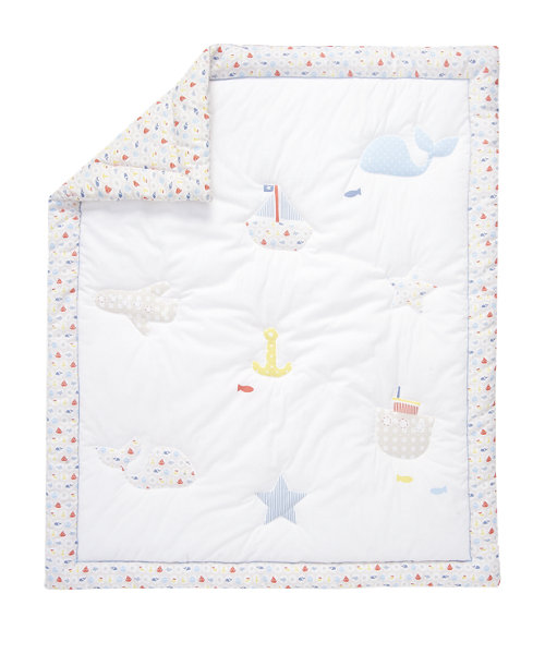 Mothercare Adventure Ahead Cot/Cot Bed Quilt