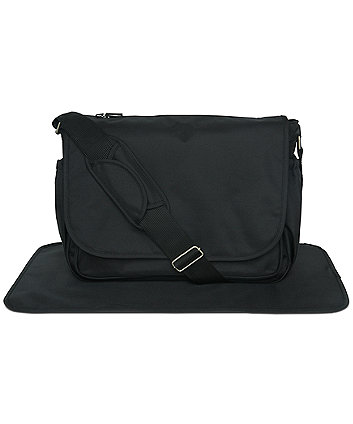 Mothercare Messenger Change Bag- Black
