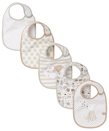 Mothercare Loved So Much Bibs - 5 Pack