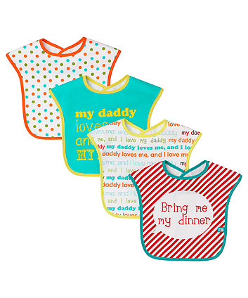 Mothercare I Love Daddy Toddler Bibs