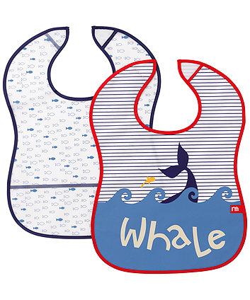 Mothercare Whale Bay Boy Crumbcatcher Bib