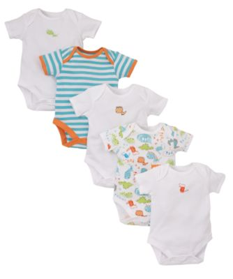 Mothercare Baby Newborn Boy's Dinosaur Bodysuits Onesie ...