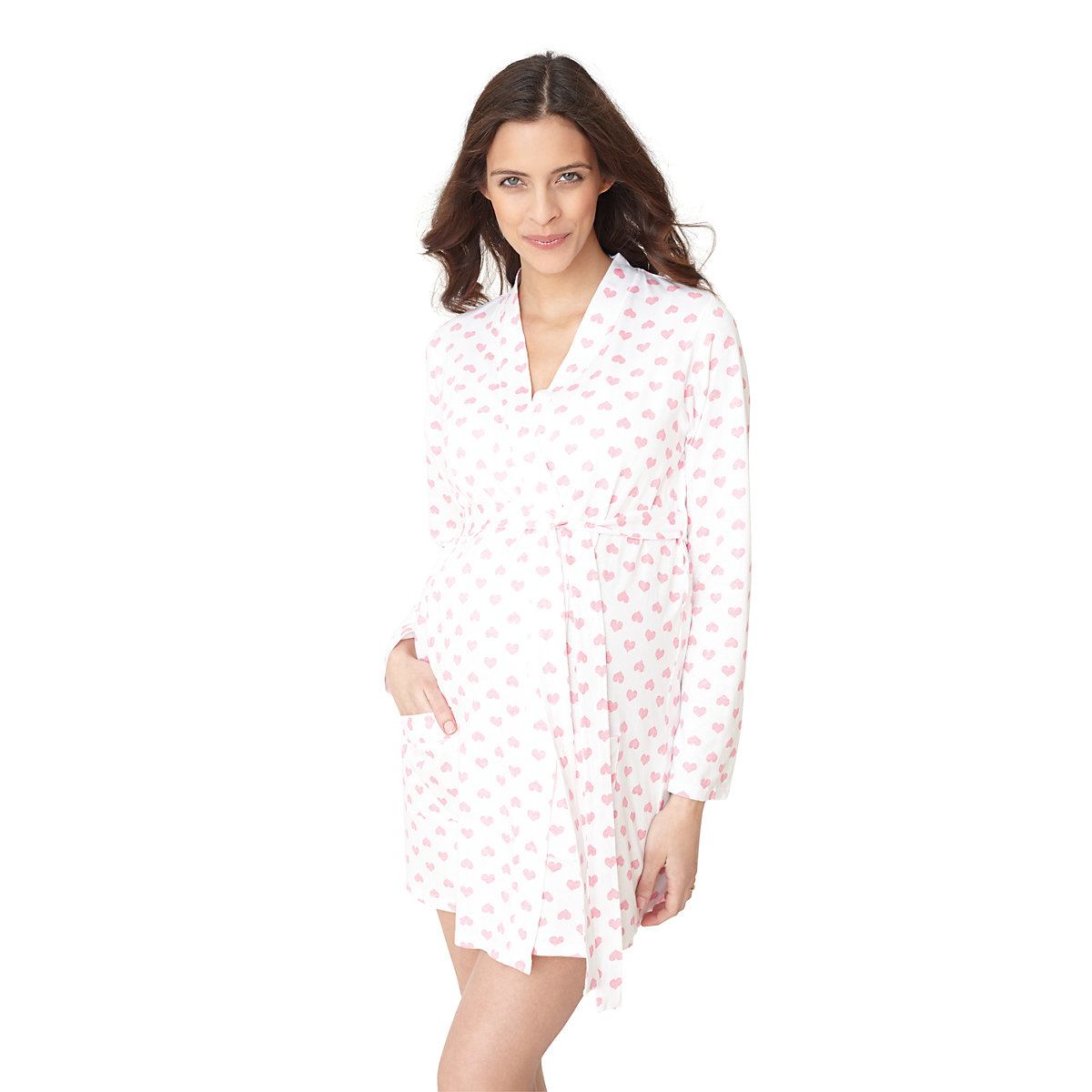Blooming Marvellous Heart Print Maternity Robe