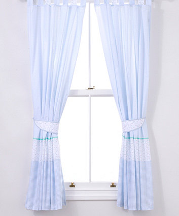 Mothercare Little Beep Beep Large Tab Top Curtains