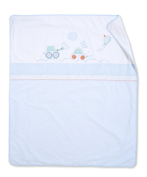 Mothercare Little Beep Beep Coverlet