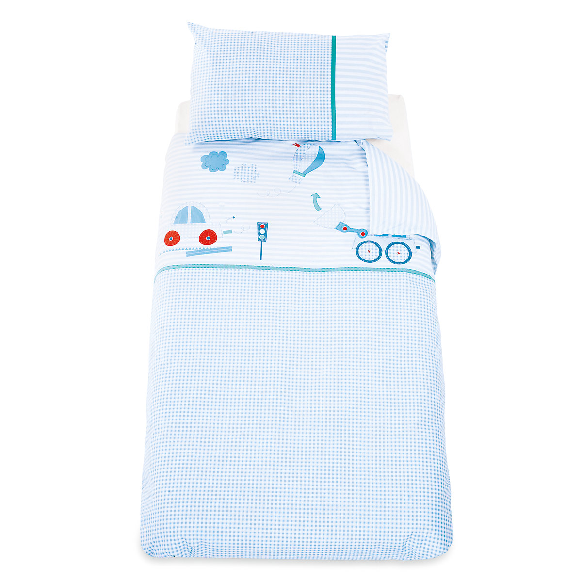 Mothercare Little Beep Beep  Cotbed Duvet and Pillowcase Set