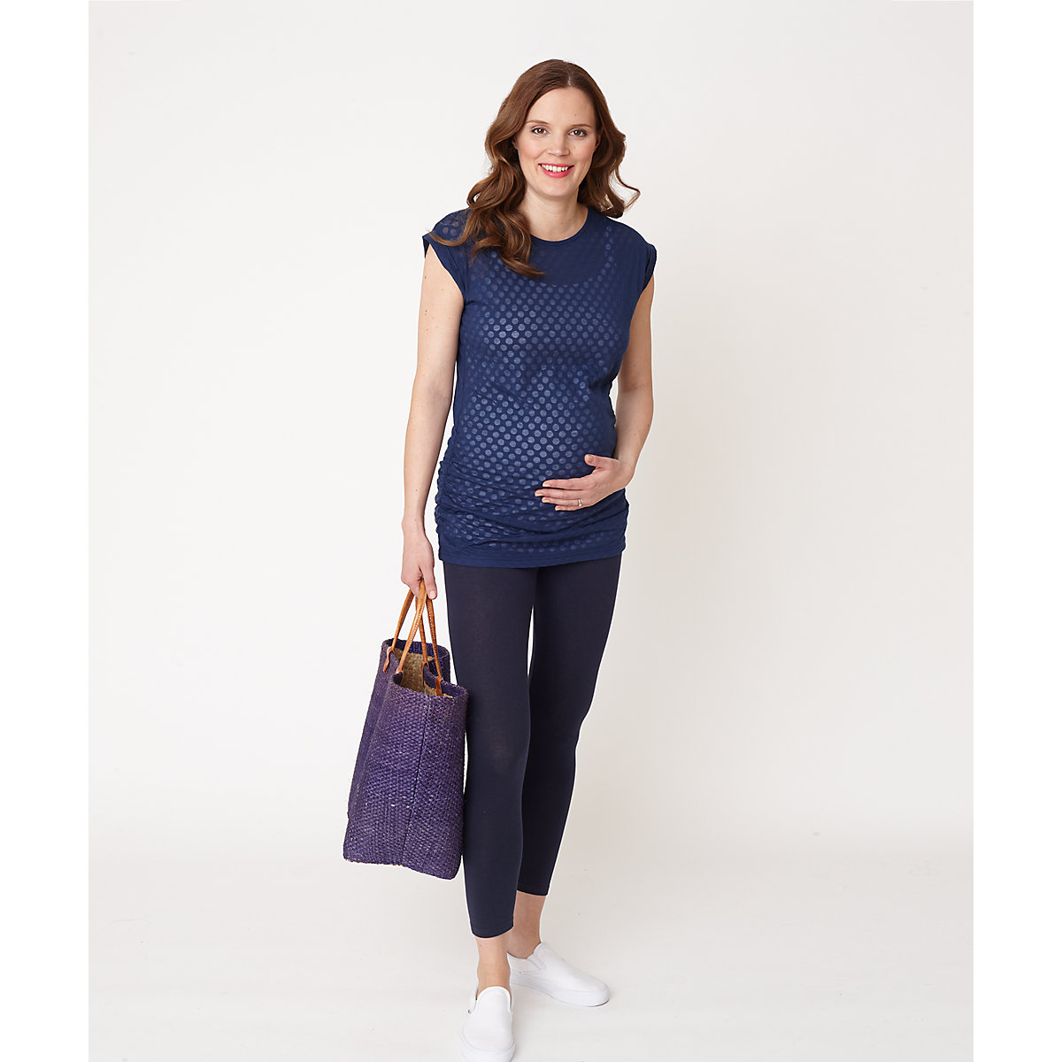 Blooming Marvellous Maternity Navy Over The Bump Leggings