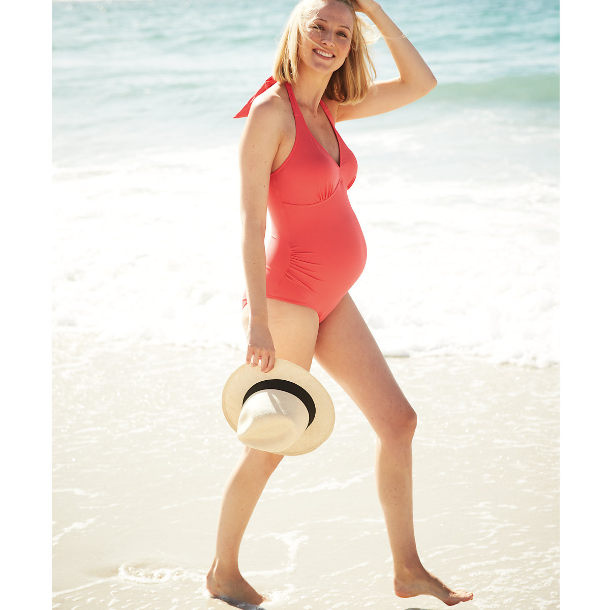 Blooming Marvellous Maternity Coral Swimsuit