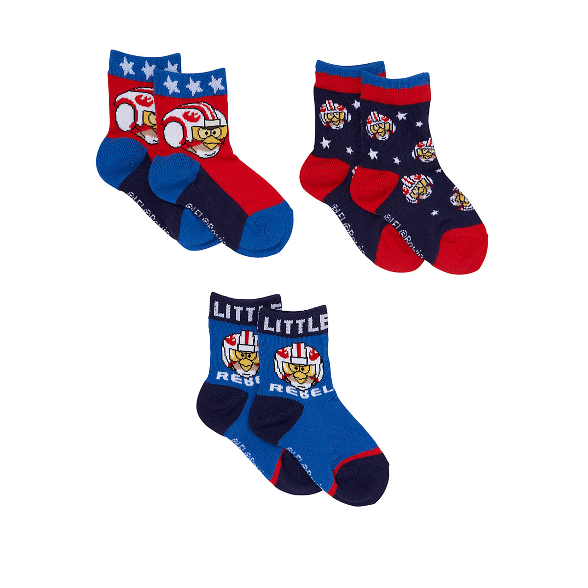 Mothercare Angry Birds Star Wars Socks - 3 Pack - Angry Birds Gifts