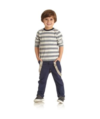 Mothercare Navy Canvas Trousers With Braces
