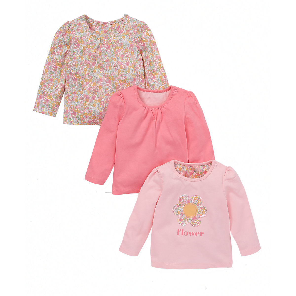Mothercare Long Sleeve T-Shirts - 3 Pack