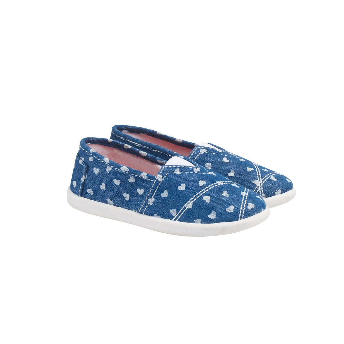 'Mothercare Denim Heart Gusset Canvas Shoes
