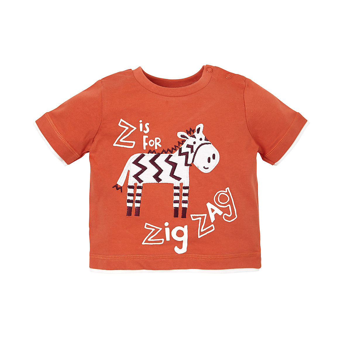 Mothercare Orange Zebra T-Shirt - Zebra Gifts