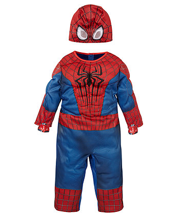 This women's Spider-Man costume lets you dress up like Marvel's number one wall-crawler! The costume comes with a spandex blend dress that's the classic red and blue colors of Spidey's signature costume. The front has spider web patterns along with a big black spider printed onto the front. The arms and skirt portion are a metallic blue.
