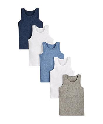 Sleeveless Vests - 5 Pack
