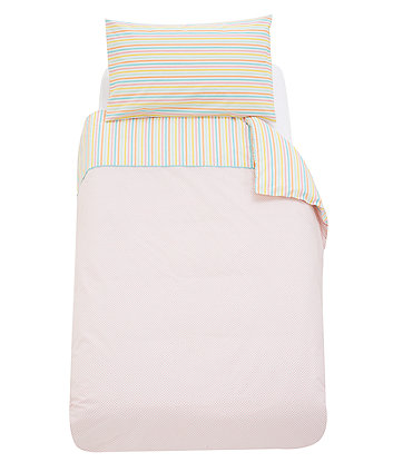 Mothercare Butterfly Fields Cot Bed Duvet and Pillowcase Set