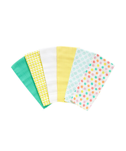 Mothercare Colour My World Muslin Cloths - 6 Pack