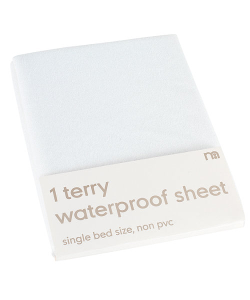 Mothercare Waterproof Terry Flat Sheets - Single Bed