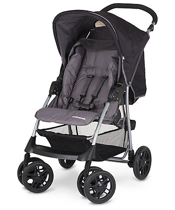 Mothercare U-Move Pushchair Travel System- Black/ Grey