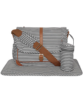 Mothercare Satchel Changing Bag- Grey Stripes