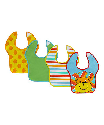 Mothercare Safari Toddler Bibs - 4 Pack