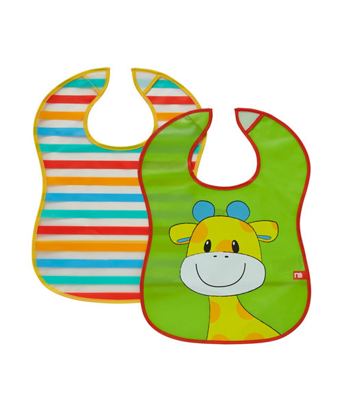Mothercare Safari Crumb Catcher Bibs - 2 Pack