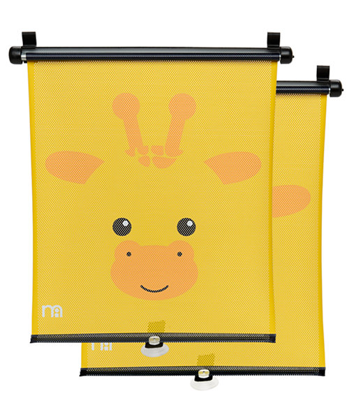 Mothercare Giraffe Retractable Car Sunblinds - 2 Pack