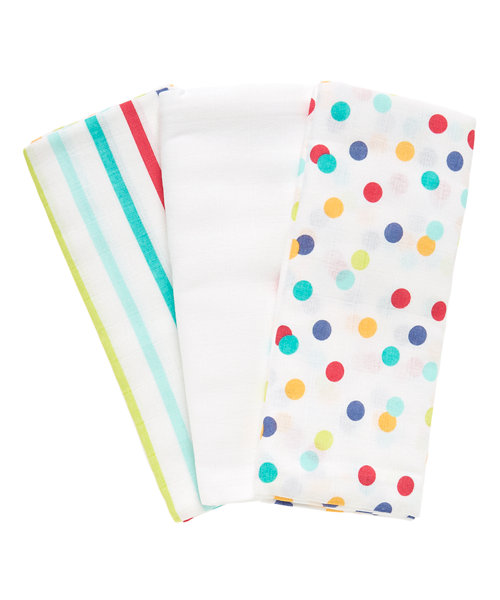 Mothercare Little Artist Extra Large Muslin Cloths - 3 Pack