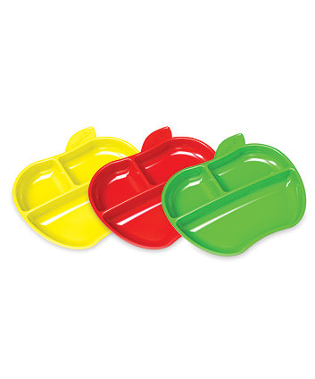 Munchkin Lil' Apple Plates - 3 Pack
