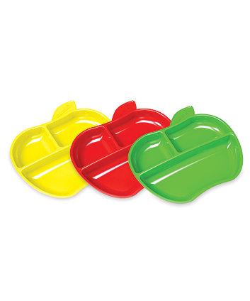 Munchkin Lil' Apple Plates - 3 Pack