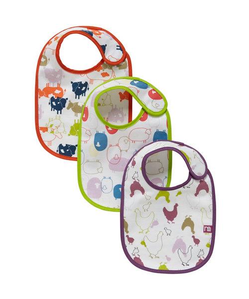 Mothercare Farm Newborn Bibs - 3 Pack