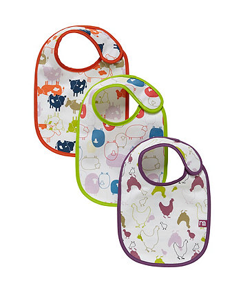 Mothercare Farm Newborn Bibs - 3 Pack