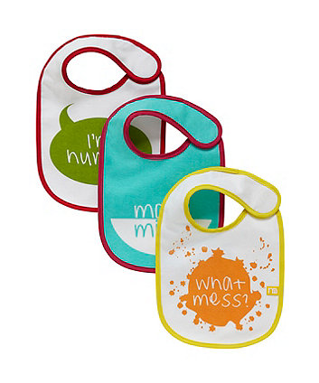 Mothercare Slogan Newborn Bibs - 3 Pack