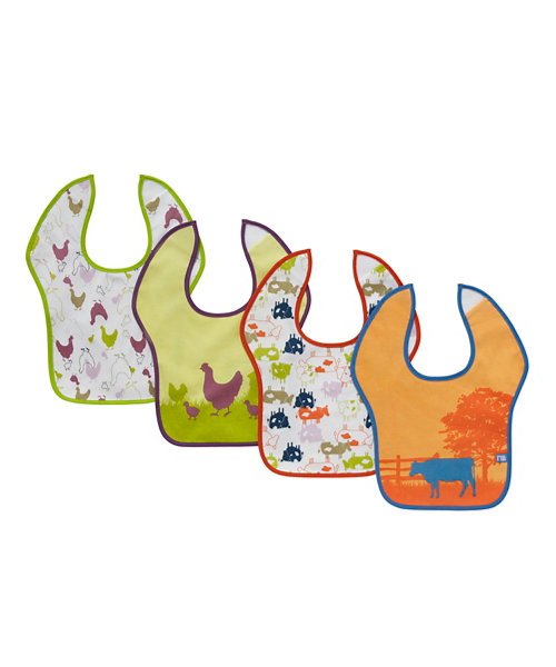 Mothercare  Farm Toddler Bibs - 4 Pack