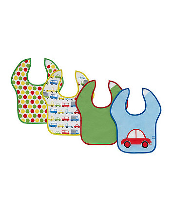 Mothercare Car Toddler Bibs - 4 Pack