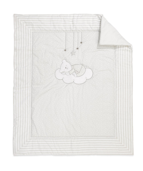 Mothercare Bedtime Wish Cot Bed Quilt