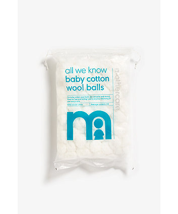 Mothercare Small Cotton Wool Balls - White 200 pack