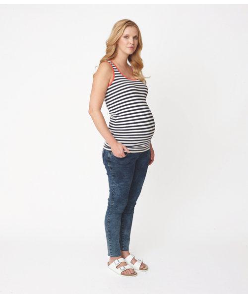 Longline Maternity Stripe Vest