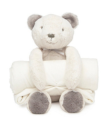 Mothercare Bear Plush Toy and Blanket