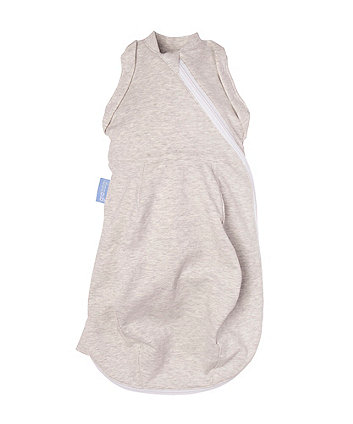 Mothercare Gro Snug 2-In-1 Swaddle And Newborn Light Sleeping Bag - Grey Marl