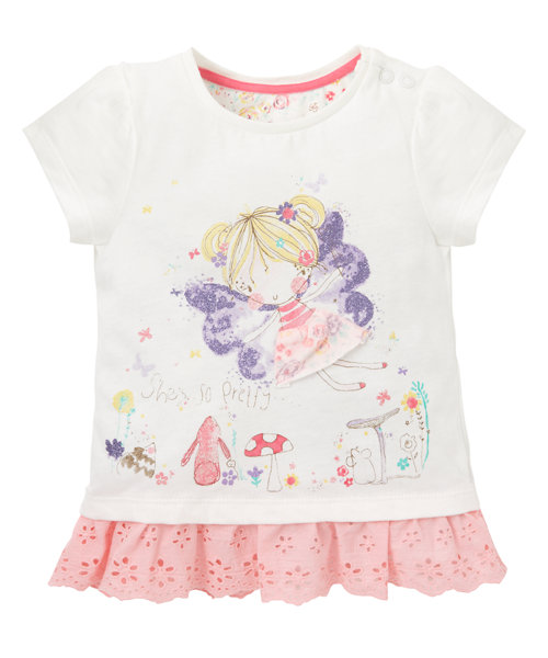 Short Sleeve Fairy T-Shirt Size 0-3months