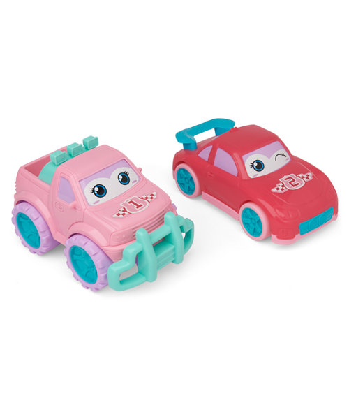 Mothercare Pink Happy Cars - 2 Pack