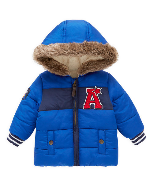 Blue and Navy Padded Jacket