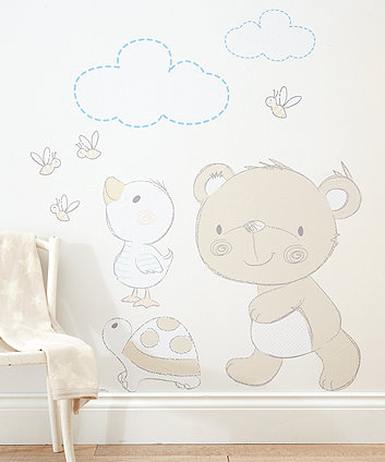Mothercare Bear And Friends Wall Stickers